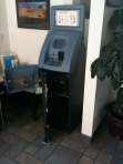A wide open ATM I saw in a motel lobby